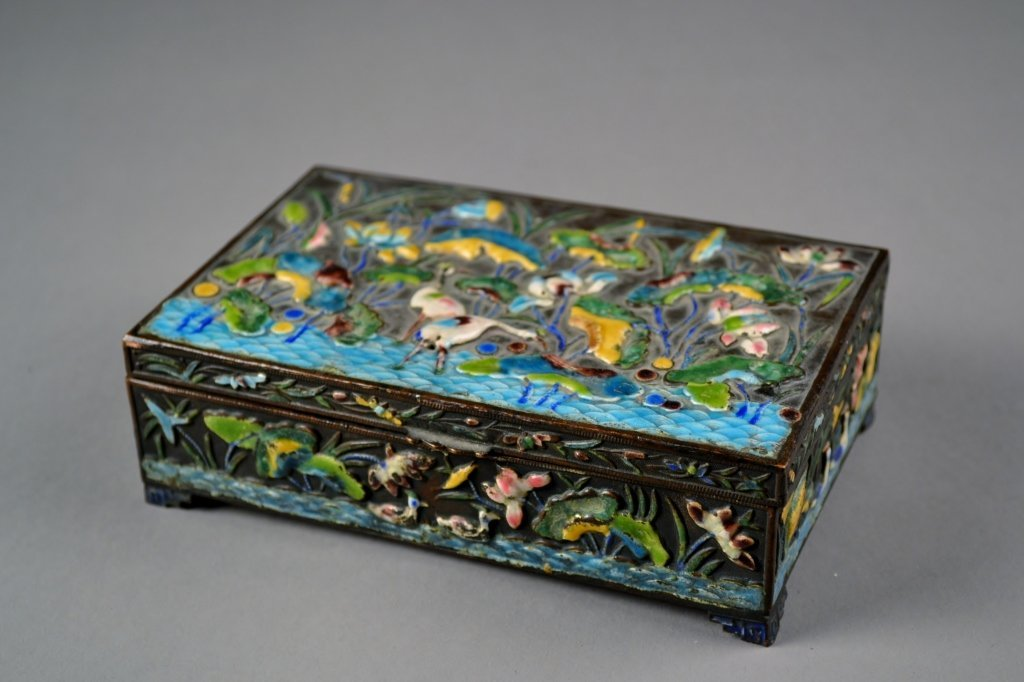 9: Antique Chinese Enamel Box