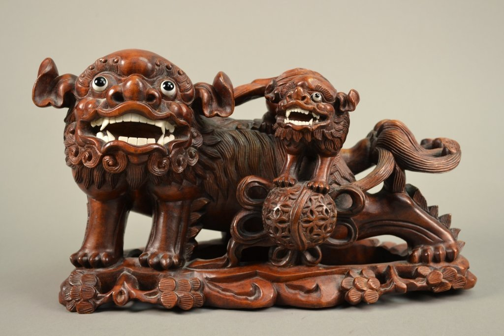 16C: Antique Chinese Hardwood Carving