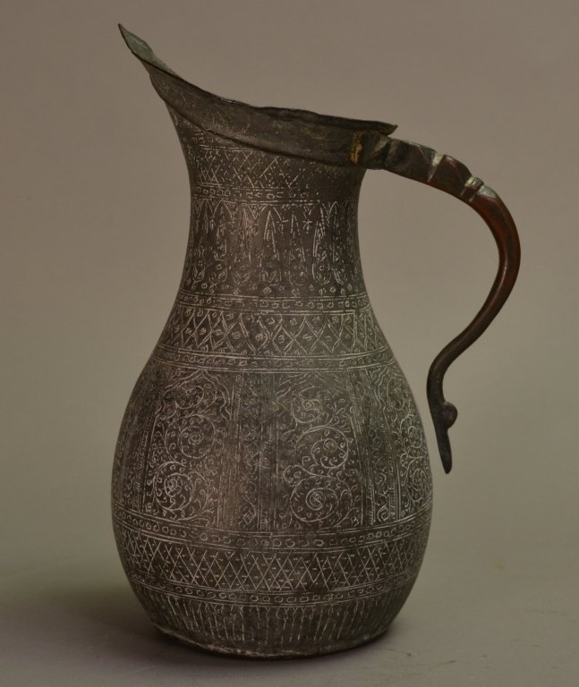 7: Ancient Islamic Copper /Bronze Ewer