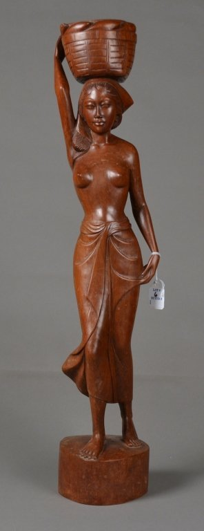 6: Wood Carving of a Lady