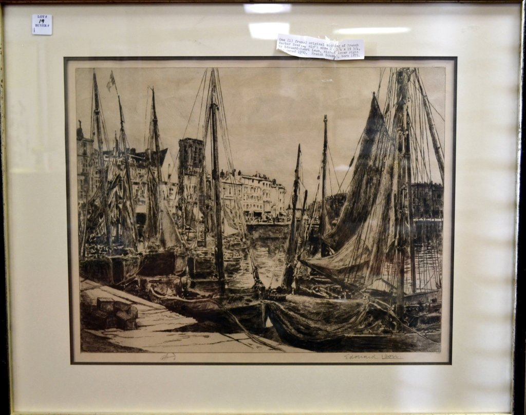 19: Etching by Edouard-Henri Leon (1873-1968)