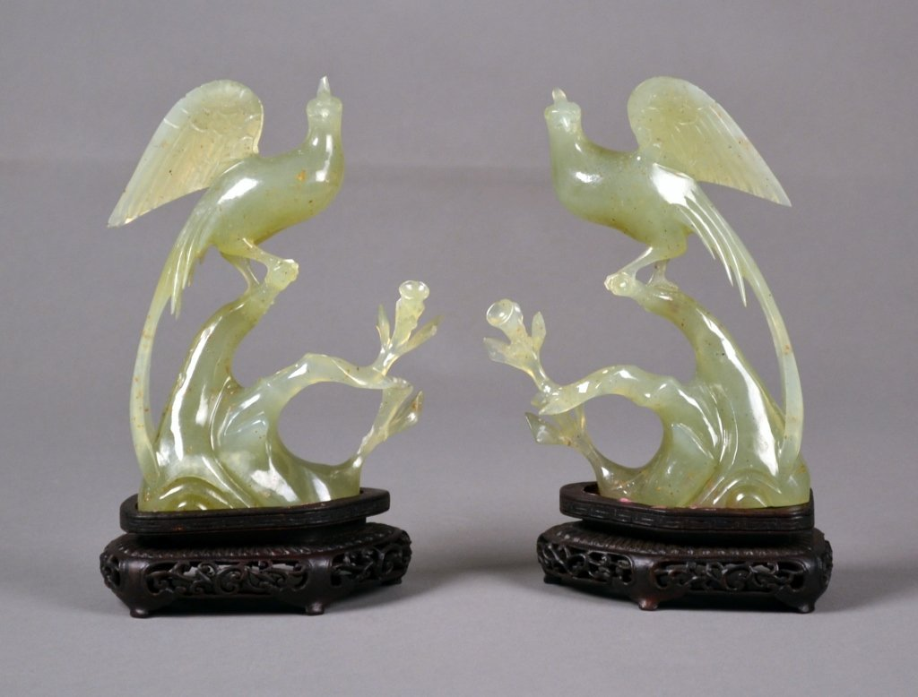 24: Antique Pr. of Chinese Jade Birds