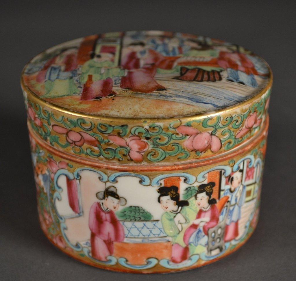18: Chinese Rose Medallion Covered Pot