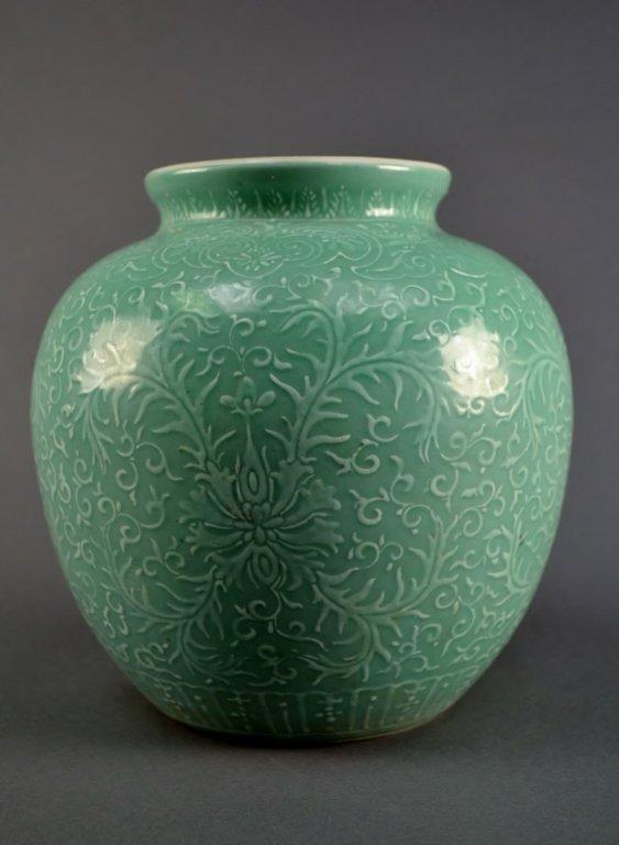 Chinese Peppermint-Glazed Jar