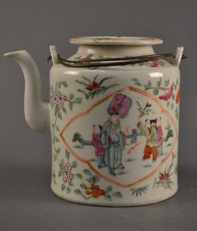 Antique Chinese Famille Rose Teapot