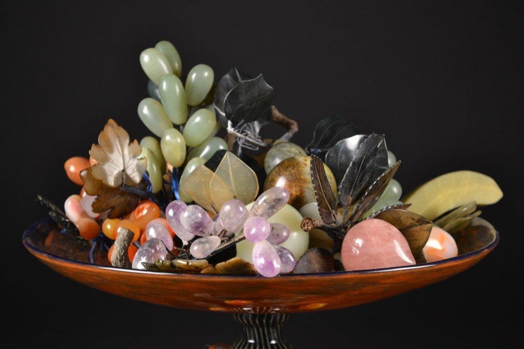 Assorted Jade Fruit in Centerpiece Bowl