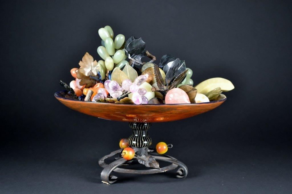 Assorted Jade Fruit in Centerpiece Bowl - 2