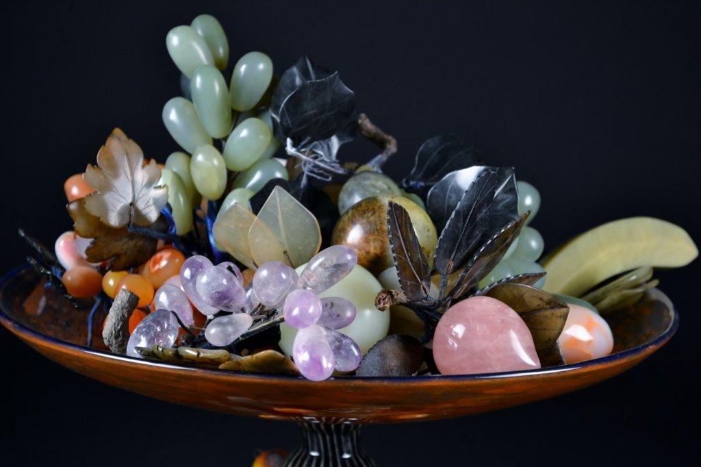 Assorted Jade Fruit in Centerpiece Bowl - 3