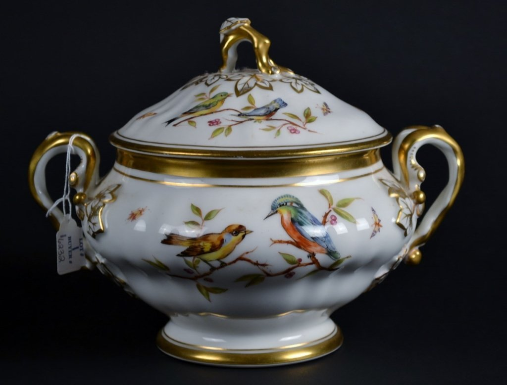 Antique Porcelain Tureen Antique Porcelain Two-Handled
