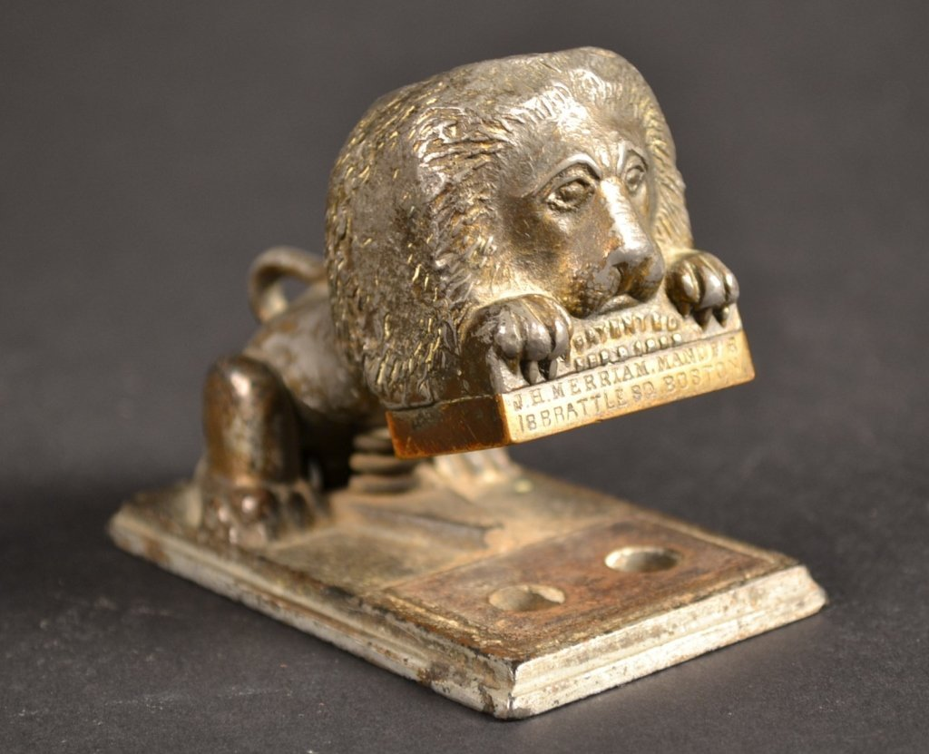 Metal Lion Paper Stamp 19c. Boston Metal Lion Paper Sta