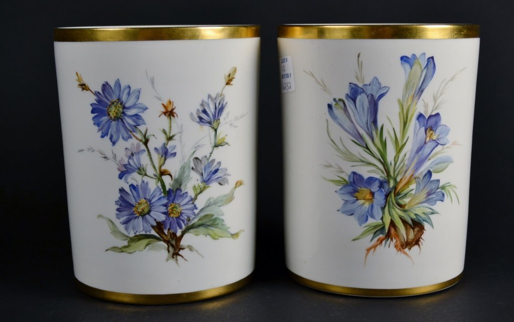 Pair of KPM Botanical Pots Pair of KPM Botanical Pots,