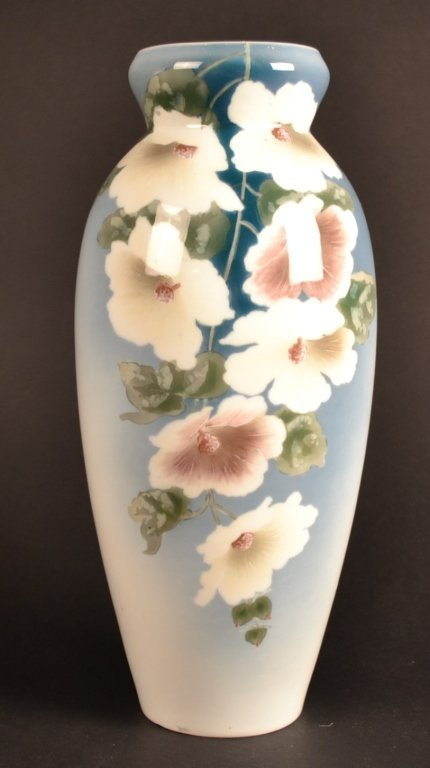 Hand Painted Danish Floral Vase Hand painted Danish Flo