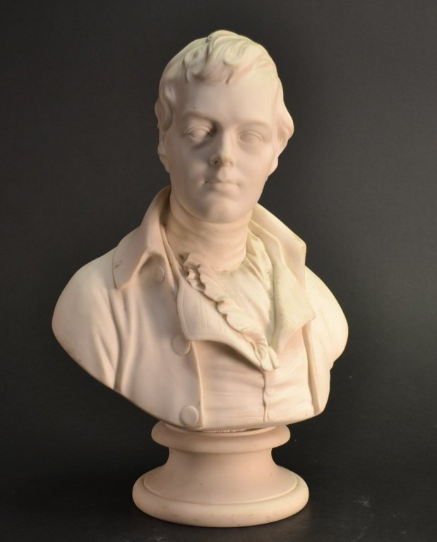 Parian Ware Bust of Burns - R W Wyon Parian Ware Bust o