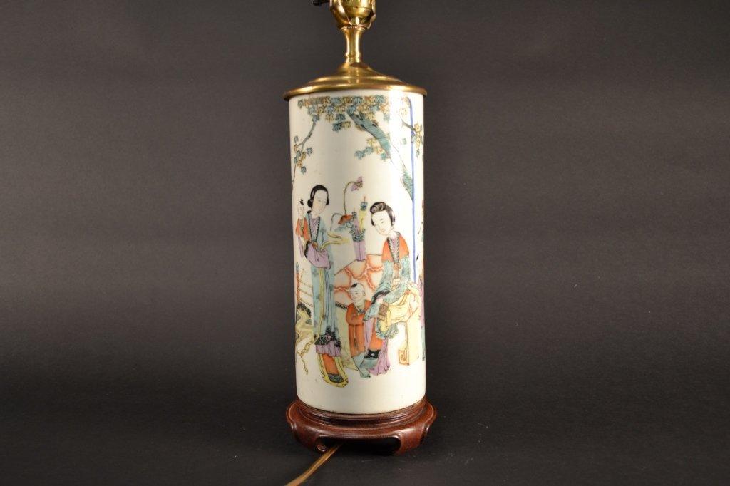 Chine famille verte vase, converted to lamp. vase  only