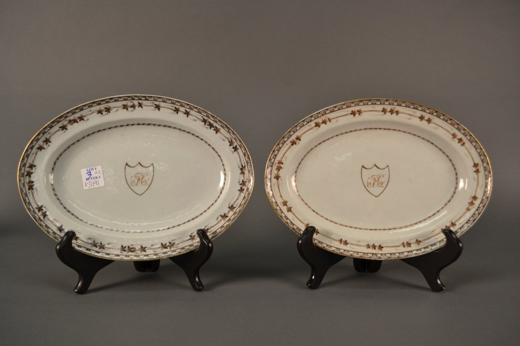 """A Pair of Chinese Export Plates size: 7.75"""" X 11"""" each"""