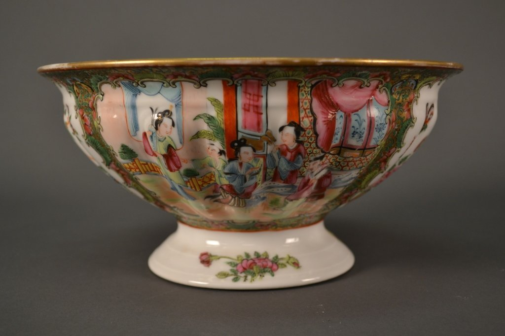 "Rose Medallion Bowl size: 9.75"" X 5"""