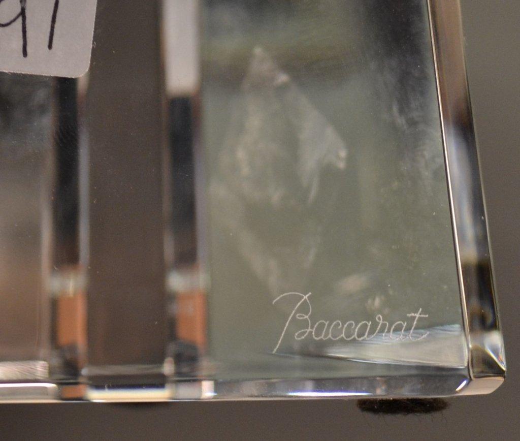"Baccarat Crystal Obelisk With original box. Size : 15"" - 5"