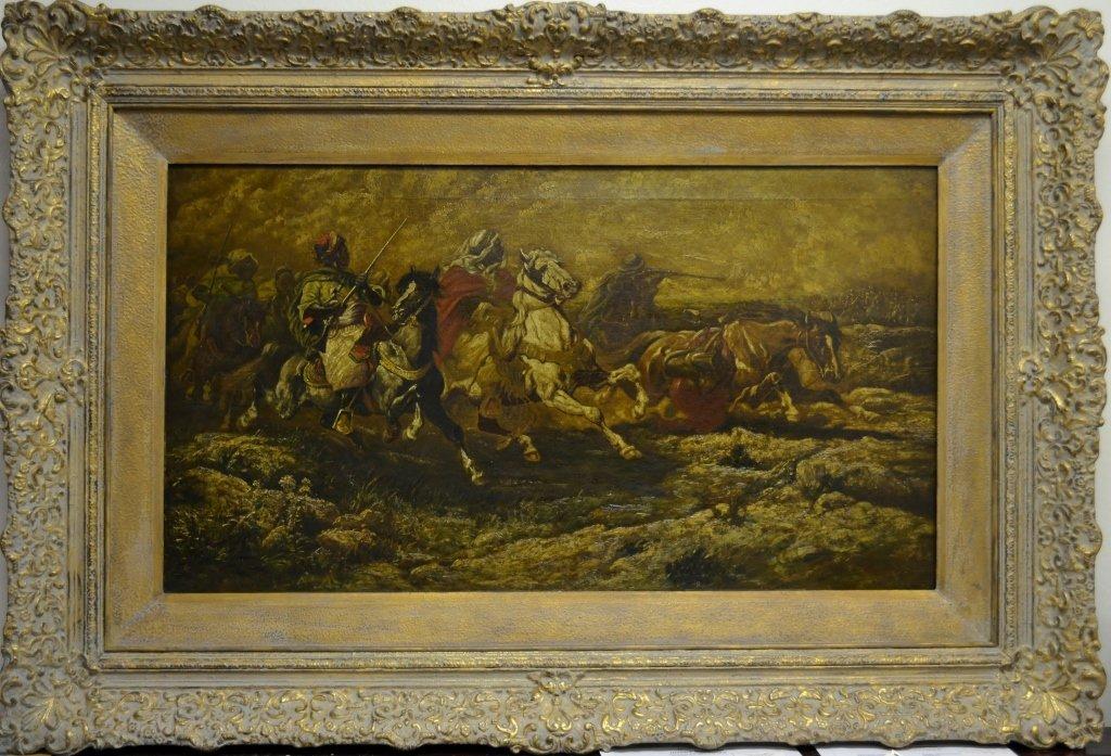 C.V. BOIZARD Painting - 19C. Oil on Canvas Size : Frame