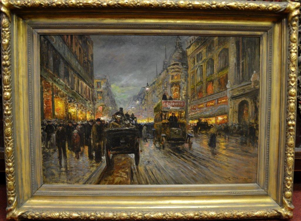 G. OTMAR Painting - Oil on Canvas Size : Frame  47' x
