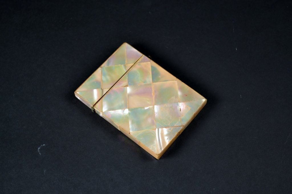 """Mother of Pearl Carved Case Size : 4 1/4"""" x 2 5/8"""""""