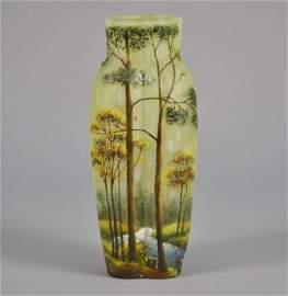 Lamartine French Cameo Glass Vase Signed Lamartine