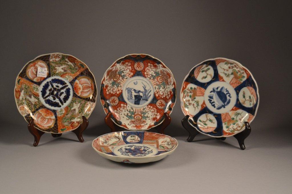4 Antique Imari  Plates Here are (4) old imari plates
