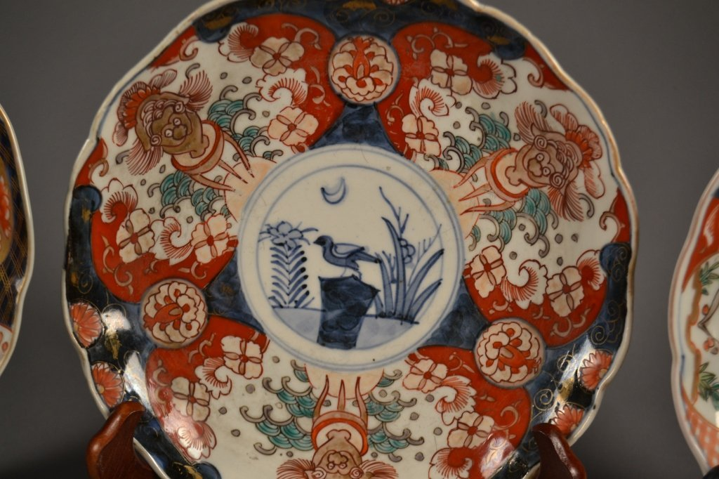 4 Antique Imari  Plates Here are (4) old imari plates - 2