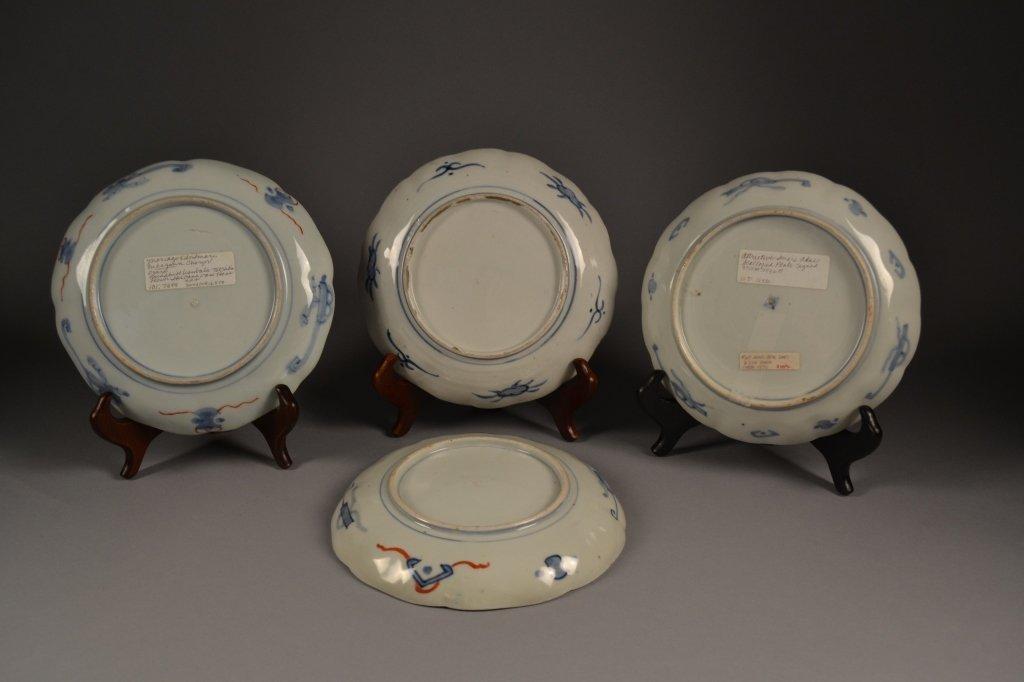4 Antique Imari  Plates Here are (4) old imari plates - 4