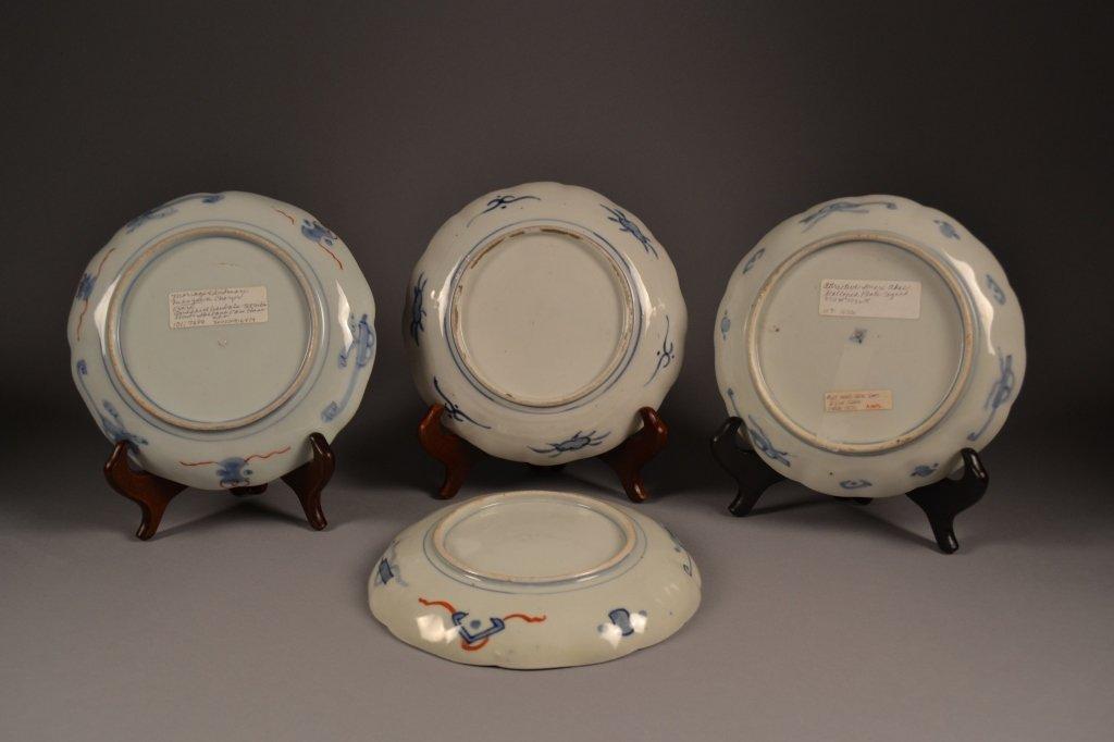4 Antique Imari  Plates Here are (4) old imari plates - 5