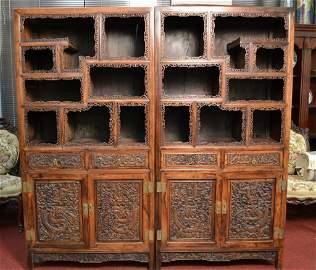 """Fantastic Chinese Hardwood Shelves Size : 35 1/2"""" x 15"""