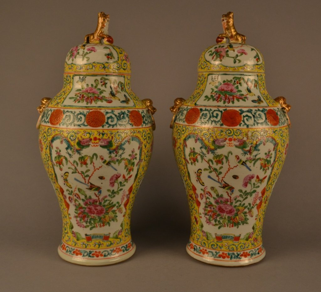 "Antique Chinese Vases Size : 16"" Tall"