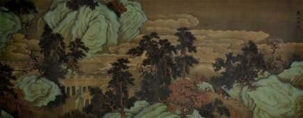 BOJU ZHAO Huge Chinese Watercolor Painting Beautiful