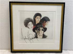 Michael Jackson 4 Home Period Portraits Signed by Brian