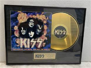 KISS 24K Gold Record 1997 You Wanted the Best You Got