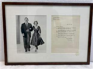 George Burns and Gracie Allen May 12 1953 Framed