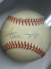 """Willie Mays """"Famous Catch"""" World Series 1954 Signed"""