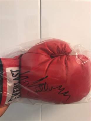 Sugar Ray Signed Boxing Gloves