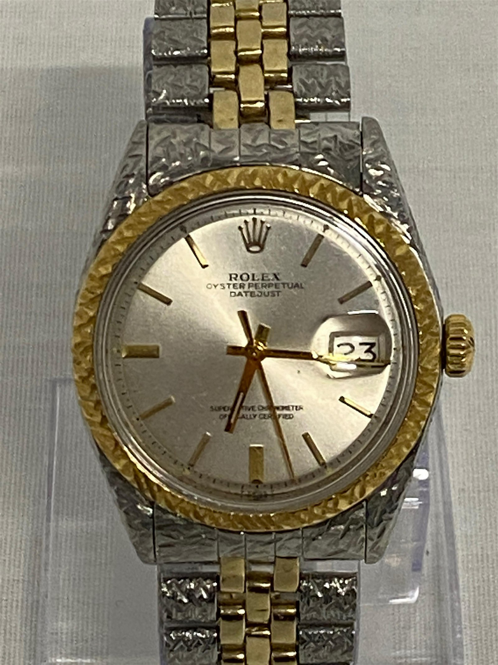 Rolex Men Silver/Gold Datejust Watch