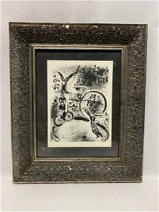 """Marc Chagall 1957 """"Bicycle Riders"""" Lithograph"""