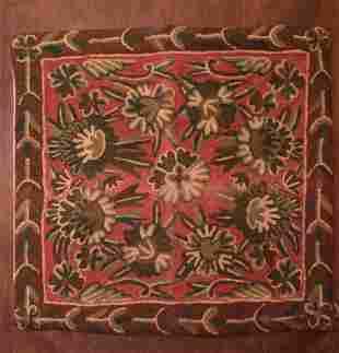 Orange Embroidered Bali Pillowcase