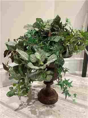 Iron Urn Silk Topiary