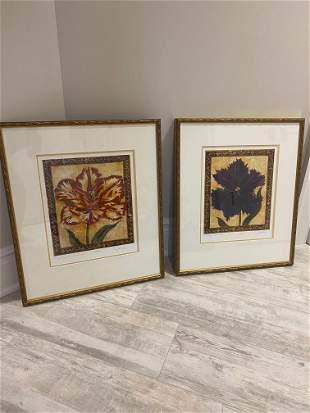 Tulip Unveled I II by Liz Jardine with COA
