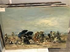"""Jacques Deveau (Born 1937) """"Two"""" Original Oil on Canvas"""