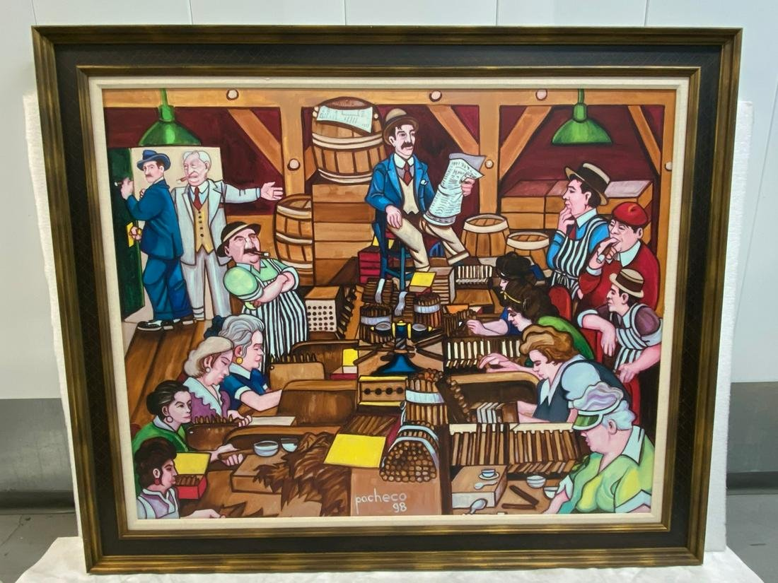 """Cigar Factory Scene"" Photo Mechanical Reproduction"