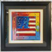 """""""Flag with Heart"""" by Peter Max"""