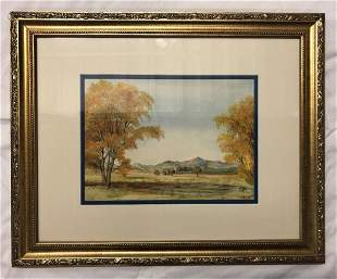 BF Climie Original Watercolor Framed