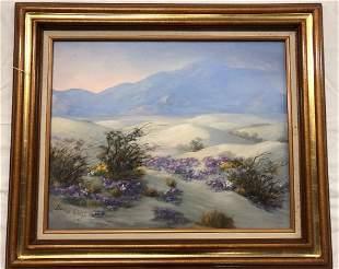 Bonnie Welch Palm Springs Desert Original Oil on