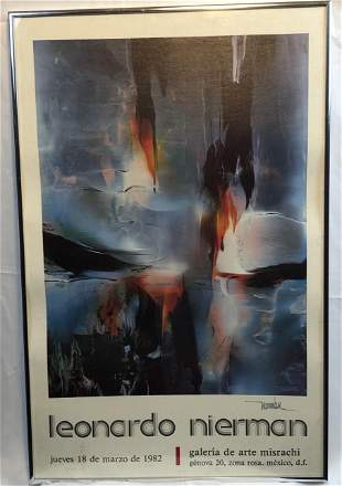 Leonardo Nierman 1982 Galeria de Arte Misrachi Double