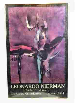 Leonardo Nierman Autumn 1984 MIT Museum Signed Poster