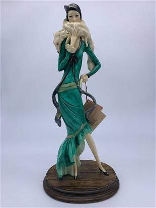 Signed Limited Edition HandPainted Wood Statue